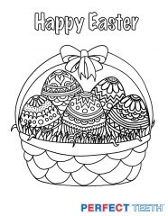 Easter Coloring Pages And Easter Crafts For Kids Perfect Teeth - Easter-coloring-page
