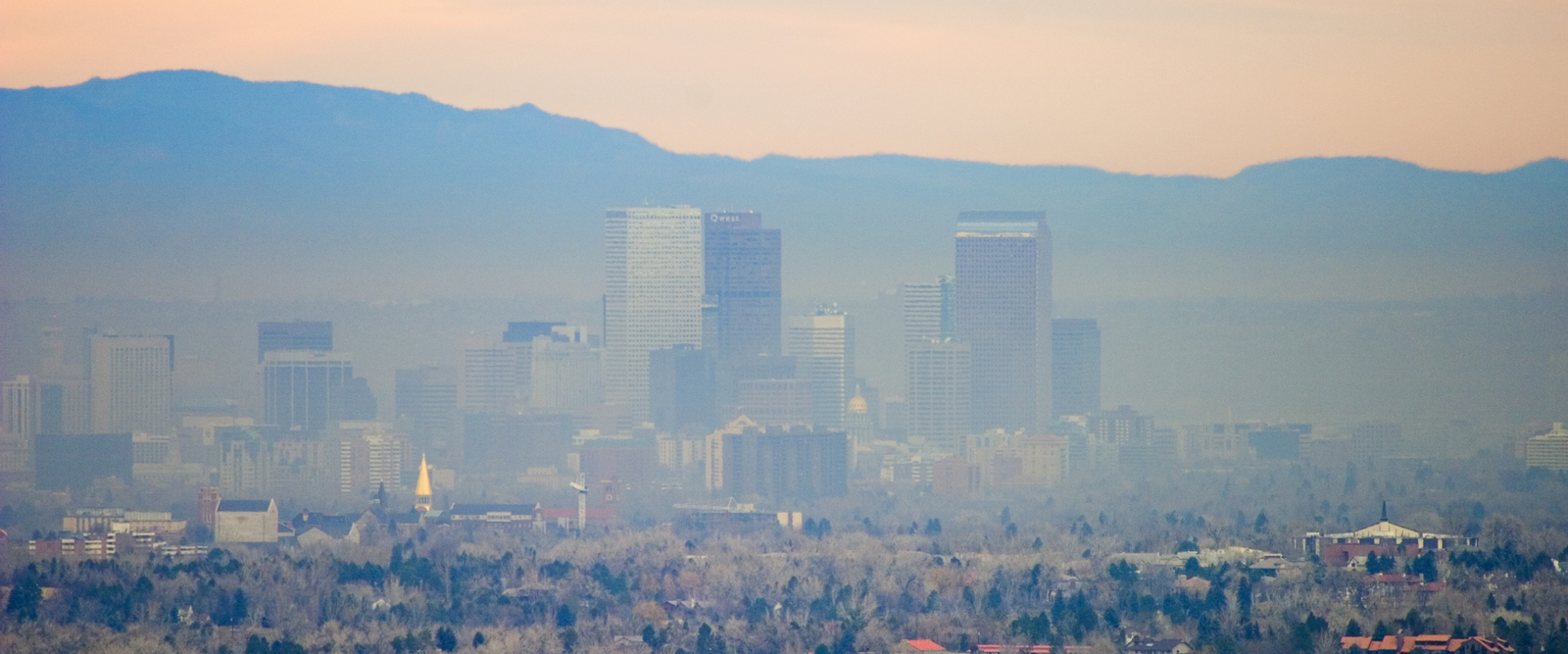 Denver Air Pollution - Denver Skyline